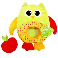 Rappa Plush baby owl with a bite - Baby Rattle & Teether