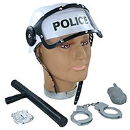 Rappa Police helmet with accessories - Costume Accessory