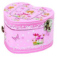 Rappa Jewelery Heart with melody and butterfly fairy in a luxurious package - Jewellery Box