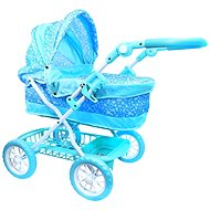 Rappa Stroller blue with flakes - Doll Stroller