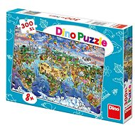 Dino Illustrated Map of the World - Puzzle