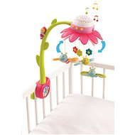 Smoby Cotoons Musical Cot Mobile Pink and Green - Crib Toy