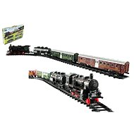 Train + 3 waggons with track, 24 pieces - Train Set