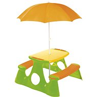 Picnic table and bench with umbrella - Table