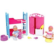 Simba New Born Baby Kids Room + 2 Dolls (Drinks & Whisks) - Doll Set
