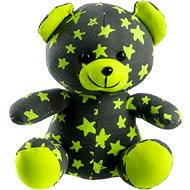 Teddies Glow in the Dark Teddy Bear 21cm grey/yellow - Plush Toy