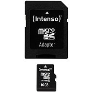 Intenso Micro SDHC 16GB Class 10 + SDHC Adapter - Memory Card