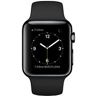 Apple Watch 38mm Space Black Stainless Steel Case with Black Sport Band - Smartwatch