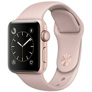 Apple Watch Series 1 42mm Rose Gold Aluminium Case with Pink Sand Sport Band - Smartwatch