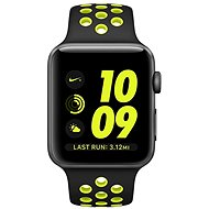 Nike + Apple Watch 42 mm cosmic gray aluminum with black Volt Nike sports strap - Smartwatch