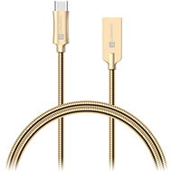 CONNECT IT Wirez Steel Knight USB-C 1m, Metallic Gold - Data cable