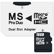 CONNECT IT MS PRO DUO to 2x Micro SDHC - Adapter