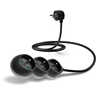 CONNECT IT Power extension cord 230V, 3 sockets, 1.5m, black - Extension Cable