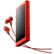 Sony Hi-Res WALKMAN NW-A35 red + headphones MDR-EX750 - MP3 Player
