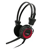 C-TECH MHS-02, black-red - Headphones with Mic
