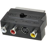 OEM scart - 3x cinch + S-video, switchable IN/OUT - Adapter