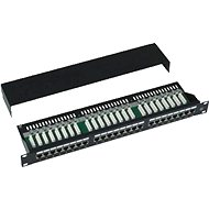 Datacom, 24x RJ45, direct, CAT5E, STP, black, 1U - Patch Panel