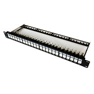 Datacom, 24x RJ45, direct, CAT6A, STP, black, 1U - Patch Panel