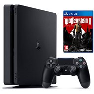 Sony PlayStation 4 - 500 GB Slim + Wolfenstein II: The New Colossus - Game Console