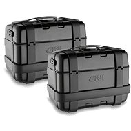 GIVI TRK 46B PACK2 set of 2 GIVI TRK 46B Trekker cases, black with aluminium black lid (Monokey) unified key - Motorcycle case