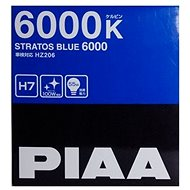 PIAA Stratos Blue 6000K H7 Bulbs Twin Pack - Cold White Light with Xenon Effect - Car Bulb