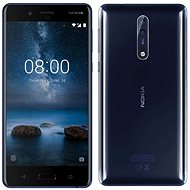 Nokia 8 Dual SIM Polished Blue - Mobile Phone