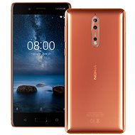 Nokia 8 Dual SIM Polished Copper - Mobile Phone