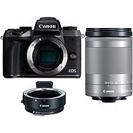 Canon EOS M5 Body black + 18-150mm IS STM + Adapter EF-EOS M - Digital Camera