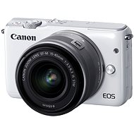 Canon EOS M10 White + EF-M 15-45 mm F3.5 - 6.3 IS STM - Digital Camera