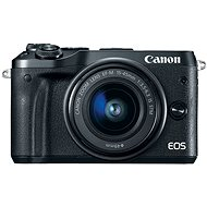 Canon EOS M6 Black + EF-M 15-45mm + 55-200mm - Digital Camera