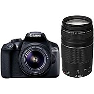 Canon EOS 1300D + 18-55mm DC III + 75-300mm DC III - DSLR Camera