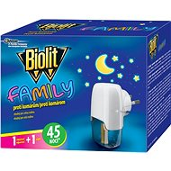 BIOLIT Family electric vaporizer with liquid charge 45 nights 1 + 27 ml - Insect Repellent