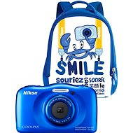 Nikon COOLPIX W100 blue backpack kit - Digital Camera