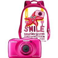 Nikon COOLPIX W100 pink backpack kit - Digital Camera
