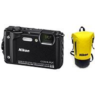 Nikon COOLPIX W300 Black Holiday Kit - Digital Camera