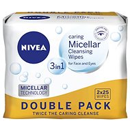 NIVEA Cleansing Wipes All skin types Duopack 2 × 25 ks - Facial Tissues