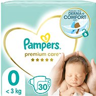 PAMPERS Premium Care Size 0 Newborn (30 pcs) - Baby Nappies
