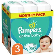 PAMPERS Active Baby-Dry Size 3 Midi (208 pcs) - Monthly packs - Baby Nappies