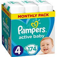 PAMPERS Active Baby-Dry size 4 Maxi (174 pcs) - monthly stock - Baby Nappies