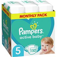 PAMPERS Active Baby-Dry size 5 Junior (150 pcs) - Baby Nappies