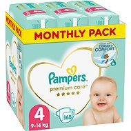 PAMPERS Premium Care Size 4 Maxi (168 pcs) - monthly pack - Baby Nappies