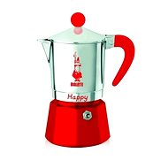 Bialetti Happy for 3 Cups, Red - Moka Pot