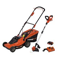 PowerPlus Cordless Rotary Mower, Grass Trimmer + Charger - Rotary Lawn Mower