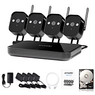 Zmodo 4-channel recorder NVR + 4x IR IP Camera with WiFi - Camera System