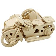 Wooden 3D Puzzle - Motorcycle Tricycle - Puzzle