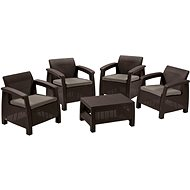 Allibert Set CORFU QUATRO brown - Set