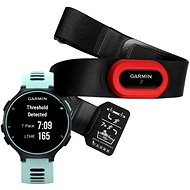 Garmin Forerunner 735XT Midnight Blue & Frost Blue Run Bundle - Sports Watch