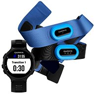 Garmin Forerunner 735XT, Black & Grey Tri Bundle - Sports Watch