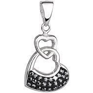 Hematite Pendant Decorated Swarovski crystals 34190.5 (925/1000, 2.3 g) - Charm
