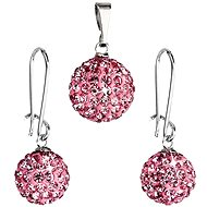 Jewellery Set with Swarovski Elements 59072.3 Rose - Trendy Gift Set